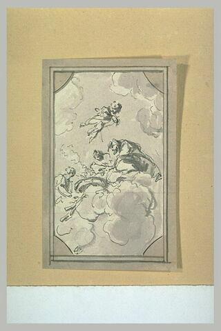 Dieux et déesses sur des nuages, composition plafonnante