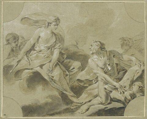 Junon demandant à Eole de déchaîner les vents contre Enée