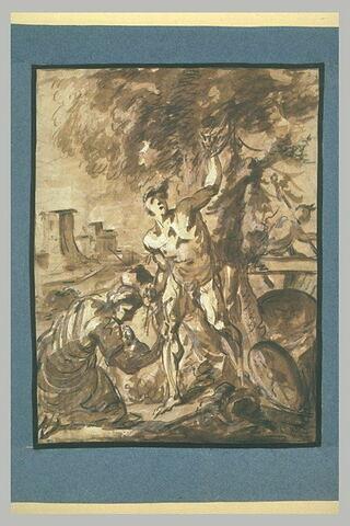 Sainte Irène soignant saint Sébastien