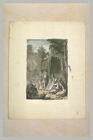Guerriers dans une forêt