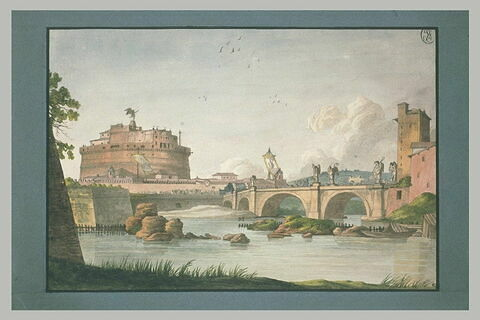 Procession se dirigeant vers le château Saint-Ange, à Rome