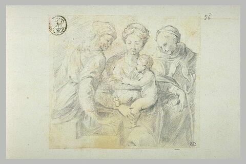 Vierge à l'Enfant adorée par deux saintes