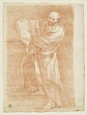 Saint Pierre debout, montrant un livre