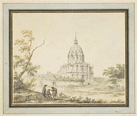 Le dôme des Invalides vu de l'allée de Breteuil