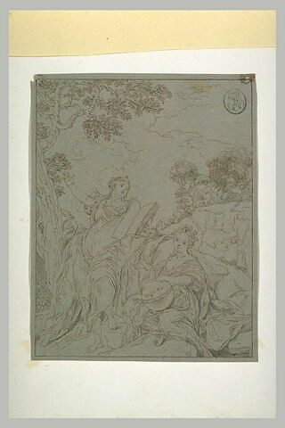 Polymnie et Uranie, assises dans la campagne