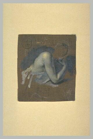 Etude du dos et des bras nus d'une jeune femme