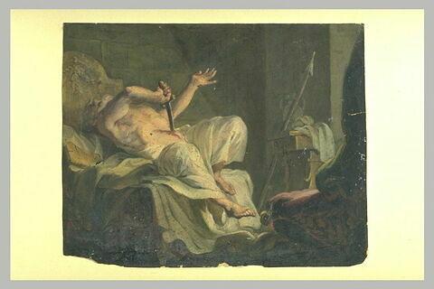 Caton se donnant la mort