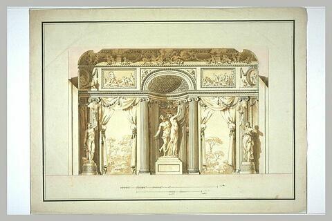 Etude pour une décoration architecturale