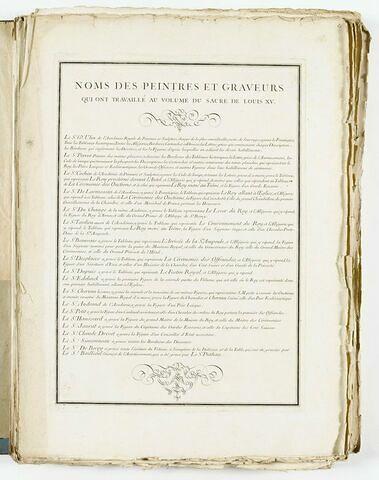 Liste des artistes ayant travaillé à l'album du Sacre de Louis XV