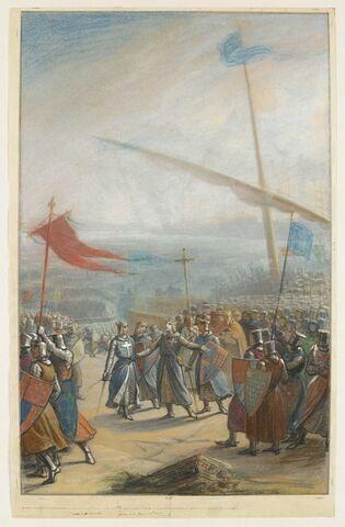 Le débarquement de saint Louis en Terre sainte