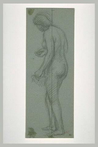 Femme nue, vue de dos, de trois quarts à gauche
