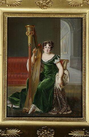 Portrait de Pauline Boyer à la harpe