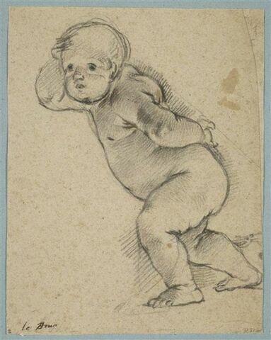 Enfant nu, marchant vers la gauche
