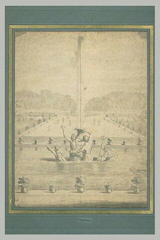 Projet pour les sculptures du bassin de la sirène, à Versailles