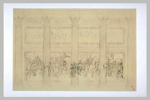 Esquisse pour le projet du Panthéon