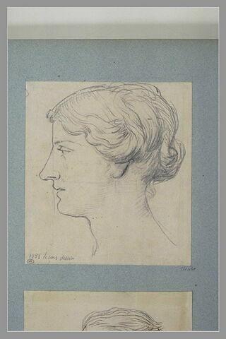 Etude de femme, vue de profil à gauche