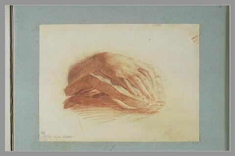Etude d'une main, d'après un plâtre