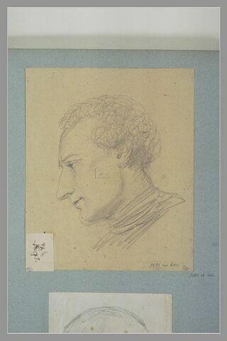 Portrait d'homme, vu de profil