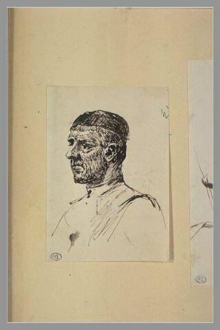 Portrait d'homme coiffé d'une calotte