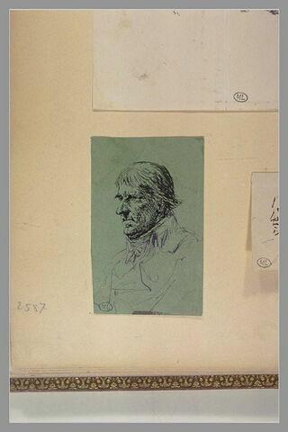 Portrait d'homme vu de profil