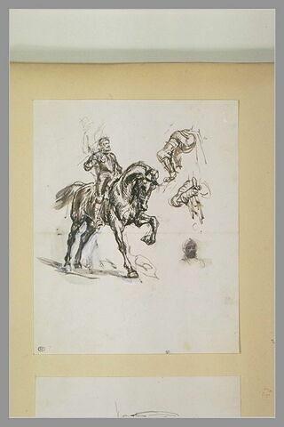 Henri IV en armure, à cheval