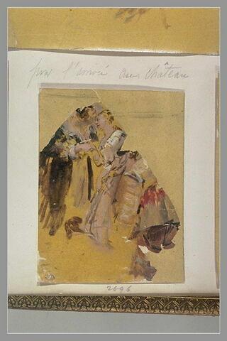 Femme déposant un baiser sur le front d'une autre