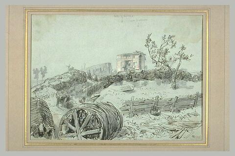 La casa Malvesia et la brèche du bastion 8, lors du siège de Rome