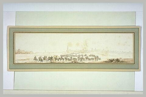 L'artillerie française sortant de Ferrare pour aller au siège de Mantoue