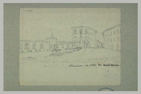 Vue de l'Hôtel de ville de la république de San Marino