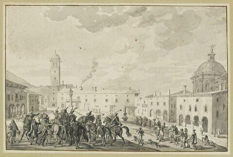 Bonaparte arrive à Lonato et apprend que la garnison est sommée de se rendre