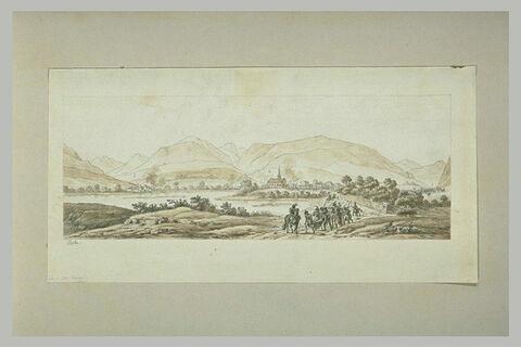 Le général Augereau, est évacué du champ de bataille de Roveredo