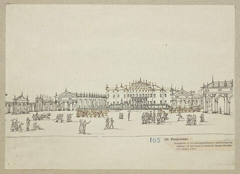 La signature du traité de Campo Formio