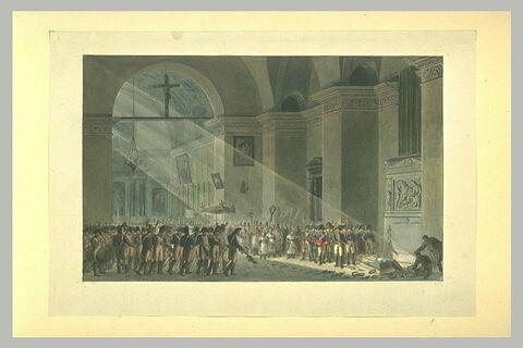 L'ensevelissement de Desaix  dans la chapelle du Mont Saint-Bernard