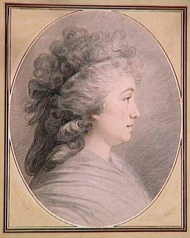 Le portrait de profil de Madame Vallayer Coster