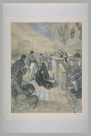 Projet d'illustration : scène dans un tribunal