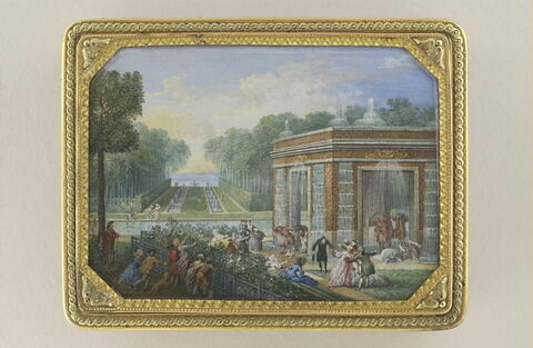 Jardins de Peterhof (tabatière)