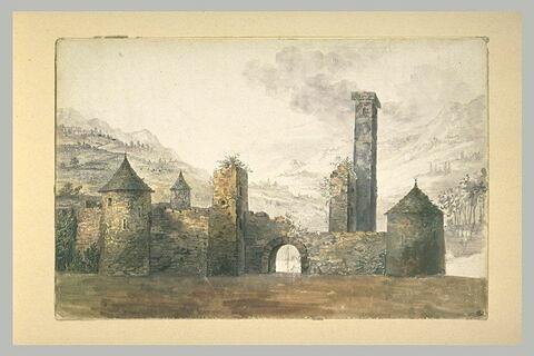 Ruines d'une forteresse médiévale
