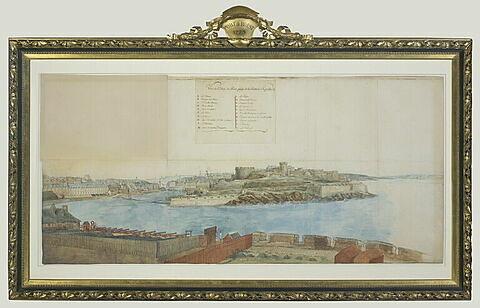 Etude pour les batteries du port de Brest
