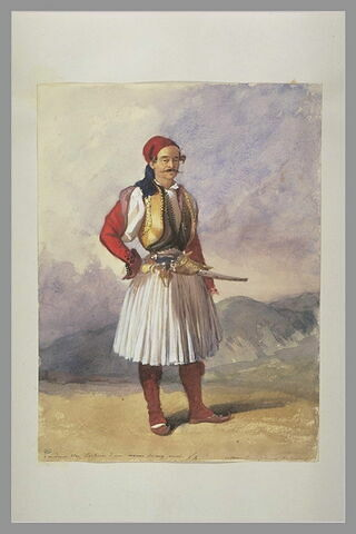Portrait de Wey en costume grec