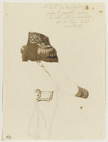 Etude du costume du Prince de Hardenberg
