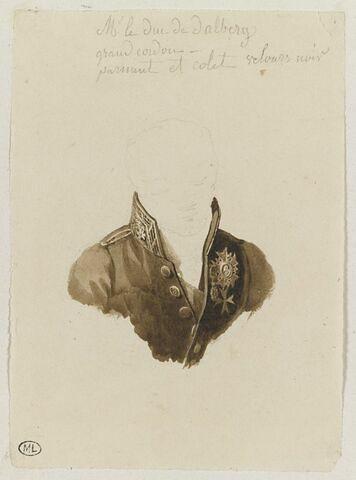 Etude du costume du duc de Dalberg