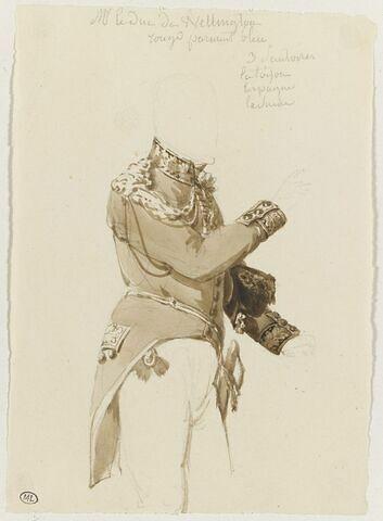 Etude du costume du duc de Wellington
