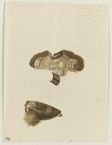 Etude du costume et du chapeau de M. de Palmita