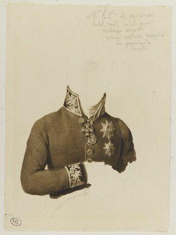Etude du costume du comte de Nethelrode