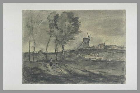 Moulin dans les dunes