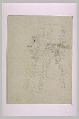 Monsieur de La Fayette, en buste, tourné vers la gauche