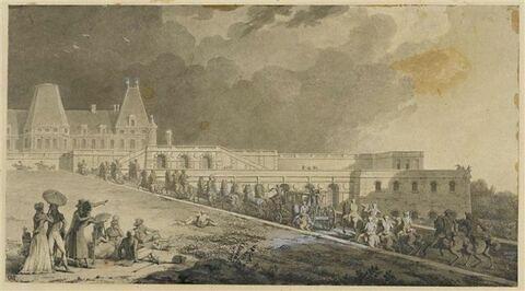 Retour de la promenade de Mr le Dauphin au vieux château de Meudon