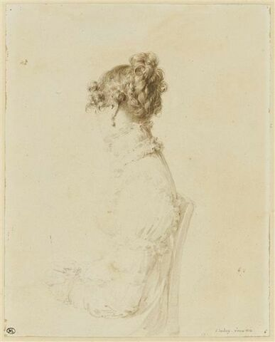 Portrait de la comtesse de Maleyssie, en profil perdu