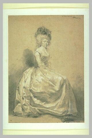 Portrait en pied de Rosalie Fragonard, fille du peintre morte à vingt ans