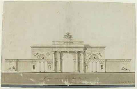 Projet d'un arc de triomphe élevé en l'honneur du général Murat